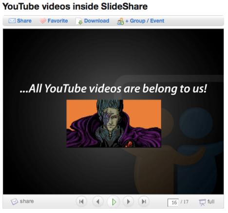 bädda in youtube i slideshare