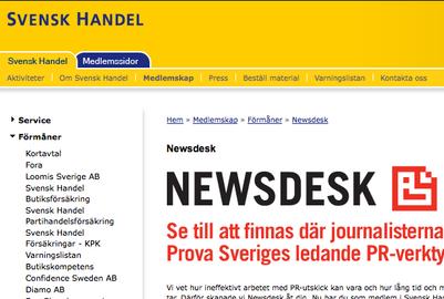 13.000 handelsföretag får konto på Newsdesk