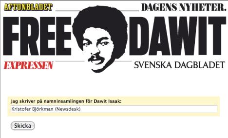Newsdesk signar Dawit-kampanj