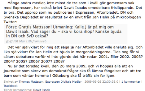 Twitter-samarbete - Free Dawit