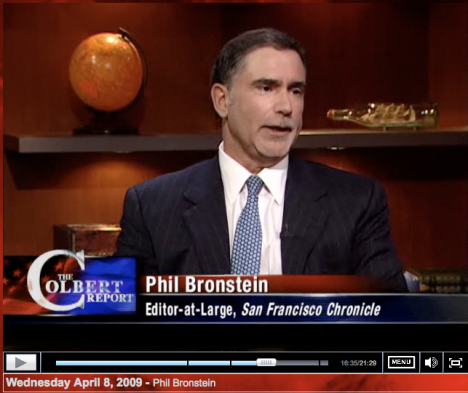 Phil Bronstein - SF Chronicles chef red - hos Colbert Report