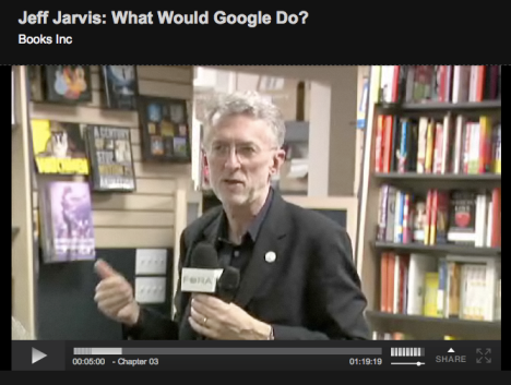 "Jeff Jarvis about his book ""What would google do?"""