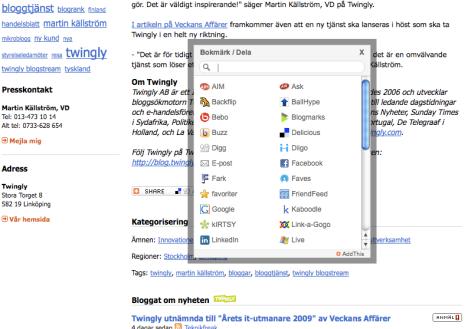 Nytt kraftfullt sharing-verktyg för pressinformation på Newsdesk