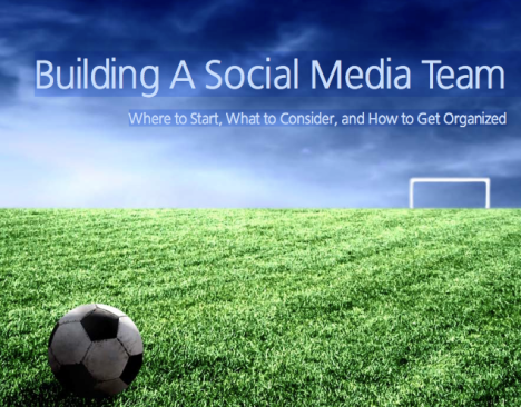 You ABC for building a social media team