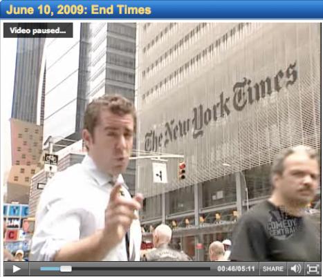 Jason Jones på The Daily News skämtar om tidningskrisen